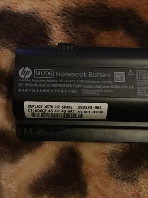 hp MU06 Notebooks Battery for Sale in San Antonio, TX