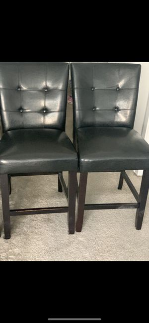 Leather Square Back Wooden Chairs for Sale in Washington, DC