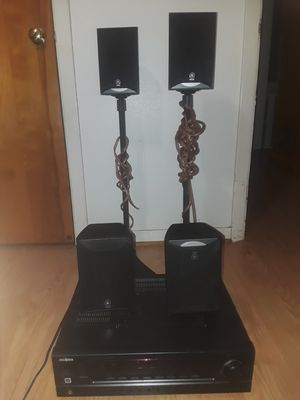 Yamaha surround speakers with insignia head unit. And two speaker stands for Sale in Baytown, TX
