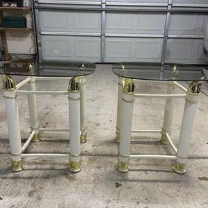 2 Glasses Tables for Sale in Wichita, KS