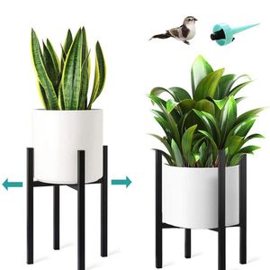 new!Metal Plant Stand Indoor Plant Holder, Adjustable 10 to 14.5 inches, Mid Century Modern Flower Stand Black Tall Plant Stand - Fit 10 11 12 13 14 1 for Sale in San Diego, CA