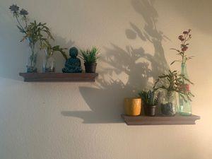ashy wood twin wall shelves for Sale in Corona, CA