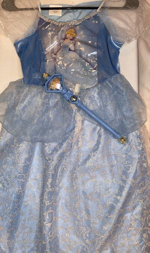 Disney Cinderella dress with wand for Sale in Las Vegas, NV