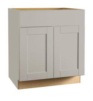 Shaker Assembled 30x34.5x24 in. Sink Base Kitchen Cabinet in Dove Gray for Sale in Tempe, AZ