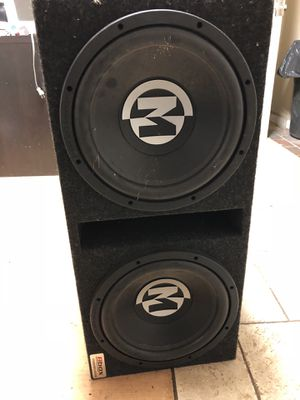 Atrend pro series subwoofers 2 12's Memphis audio speakers for Sale in Kennesaw, GA