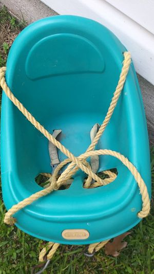 Turquoise Little Tikes baby swing for Sale in Virginia Beach, VA