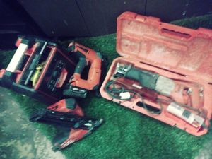 Milwaukee 18v. Fuel nail guns 2 Sawzall with multiple blades Brad nailer. Raidio charger. for Sale in Portland, OR
