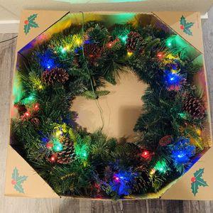 "New Dual Pre-lit Christmas Wreath 28"" for Sale in Bonney Lake, WA"
