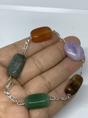 Sterling silver bracelet with natural stone for Sale in Whittier, CA