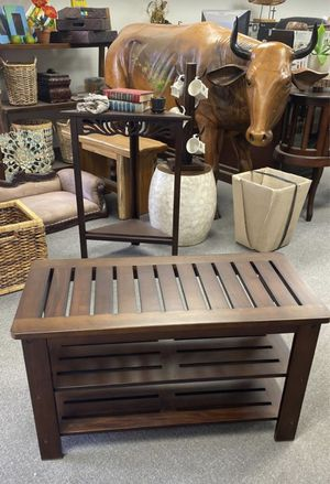 Wood Bench with shelves for Sale in Norwalk, CA