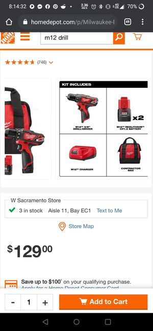 Milwaukee M12 drill set for Sale in Keizer, OR