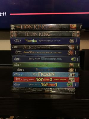 Disney Blu Rays Sealed for Sale in West Covina, CA