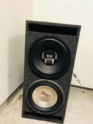 "12"" sub woofer box with 2 subs for Sale in Stockton, CA"