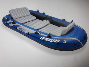 5 person inflatable fishing boat 200.00 firm for Sale in Henrico, VA
