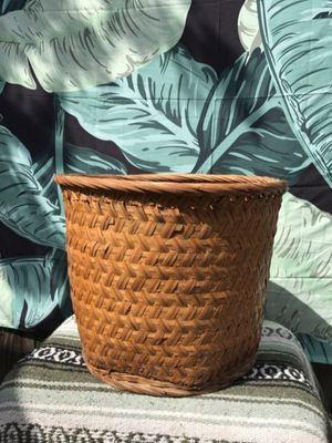 XL Vintage Boho Woven Wicker Basket for Sale in Whittier, CA