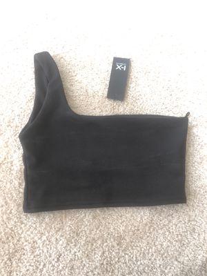 One shoulder black crop top for Sale in Rockville, MD
