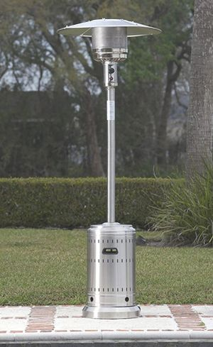 AmazonBasics Commercial, Propane 46,000 BTU, Outdoor Patio Heater with Wheels, Stainless Steel for Sale in Anaheim, CA