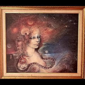 "Original ""Scorpio"" Susan Seddon Boulet Oil Pastel/Ink Painting c.1970s for Sale in Richmond, VA"