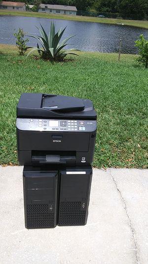 2 computer 1 printer fix or parts for Sale in Sanford, FL