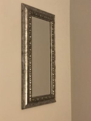 Antique silver small mirror for Sale in Hollywood, FL