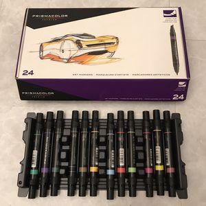 Prismacolor Marker Art Set 24 Count Like New For Artwork Artist Draw Drawing for Sale in Burtonsville, MD