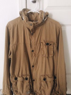 Men's Tan Parka Coat Size XXL fits like a L for Sale in North Las Vegas, NV