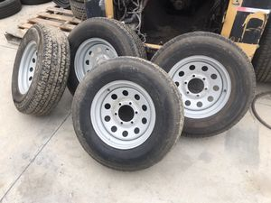 """Trailer Tires and rims 15"""" 6 lug for Sale in Chino, CA"""