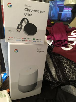 Google Home and Chromecast Ultra for Sale in Hampton, VA