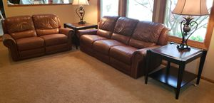Leather couch and love seat for Sale in Twinsburg, OH