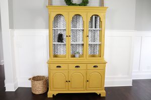 Ethan Allen Painted China Hutch - Mustard Yellow for Sale in Franklin, TN