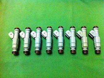 36LB FUEL INJECTORS MUSTANG, CAMARO,CORVETTE BMW, JEEP, DODGE, EV1 L98 LT1 LS1 LS6 36lb injectors rated at 42lb on LS Motors!!! See Below! for Sale in Cerritos,  CA