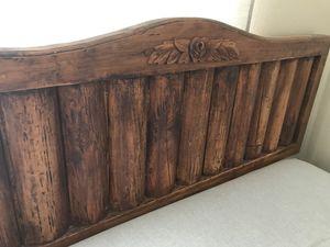 Queen log headboard for Sale in Denver, CO