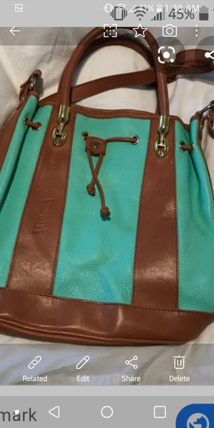 Valentino bucket purse turquoise green and brown leather must pick up Washington DC for Sale in Washington, DC