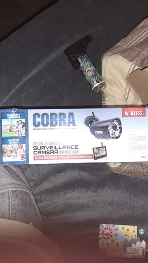 Cobra gd color wireless surveillance camera with night vision for Sale in Woodville, CA