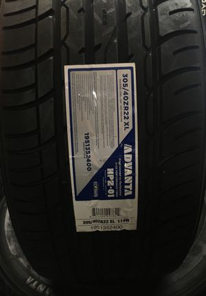 BRAND NEW TIRES 305/40r22 ADVANTA FOR SALE $50 DOWN FINANCE AVAILABLE NO CREDIT NEEDED for Sale in San Jose, CA