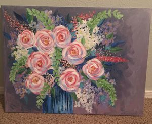 Floral original painting for Sale in Scottsdale, AZ
