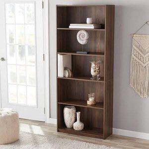 5-shelf rustic brown bookcase bookshelf NEW for Sale in Anaheim, CA