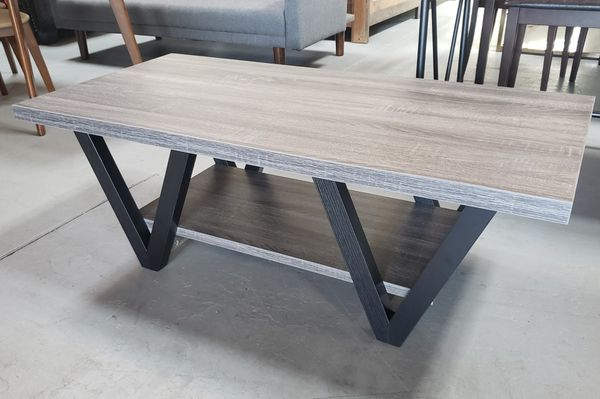 Weathered grey coffee table