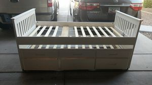 Twin trundle bed with 3 bottom drawers for Sale in Gilbert, AZ