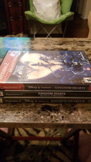 Kingdom hearts 1/2 and chain of memories PS2 for Sale in Austin, TX