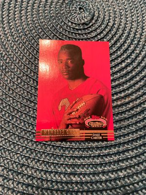 92 Topps Stadium Club - Dale Carter for Sale in Gilroy, CA
