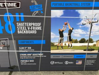 New Lifetime Shatterproof Steel Frame Basketball Hoop for Sale in Vancouver,  WA