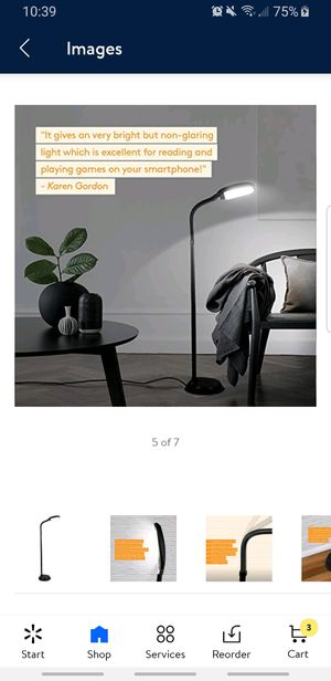Brightech Litespan LED Bright Reading and Craft Floor Lamp for Sale in Katy, TX