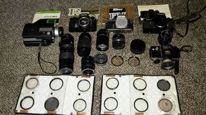 Vintage cameras, lenses, extensions and filters for Sale in Philadelphia, PA
