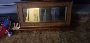 Nice wall mirror with hooks for jackets or school bags etc for Sale in Philadelphia, PA