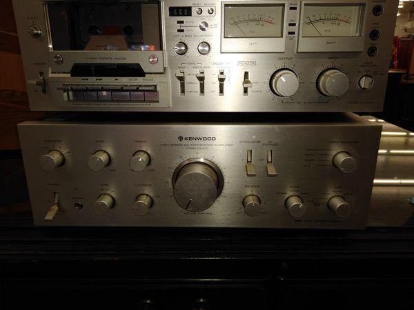 Silver vintage Kenwood Stereo