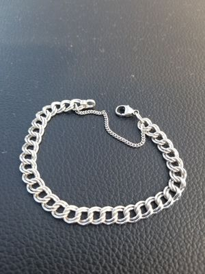 James avery silver Medium double curb charm bracelet size Medium **firm price** for Sale in SAN ANTONIO, TX