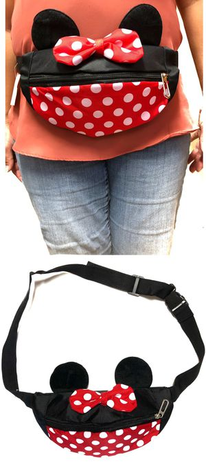NEW! Minnie Mouse Style Waist / Shoulder Side Bag Mickey rave fanny pack Disney Disneyland crossbody bag travel bag for Sale in Carson, CA