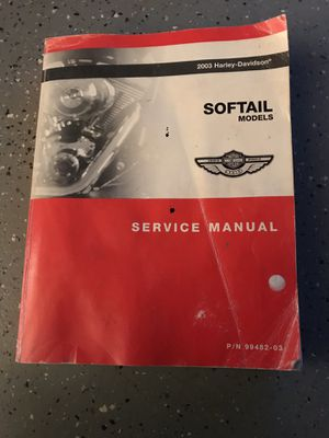 Service/repair manual for 2003 Harley-Davidson Softail motorcycle for Sale in Sudlersville, MD