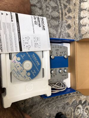 Tascam US-122 usb audio/ MIDI Interface for Sale in West Springfield, VA
